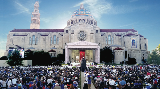 Catholic University of America shuts down to welcome Pope Francis as it hosts the Canonization Mass of Juniper Serra.